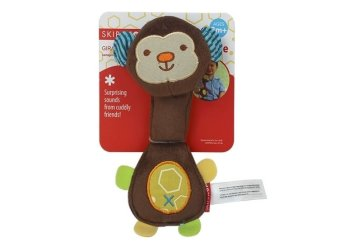 Skip Hop Safari Squeeze Me Rattle Toy Monkey