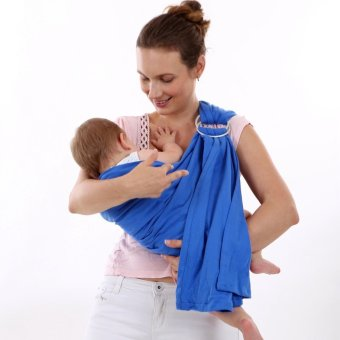 Soft Baby Carrier Sling Gift Organic Cotton Comfortable andBreathable Baby Wrap 2.2 Meter Length Fit 0-3 years old Baby Max20kg - intl - 2