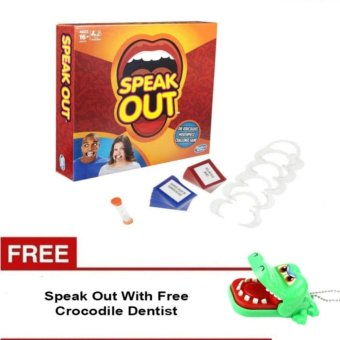 Speak Out Mouthpiece Board Game Party Challenge Friends Game WithFree Crocodile Dentist Price Philippines