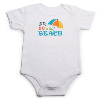 Stache Let's Go to the Beach Onesie (White) - picture 2