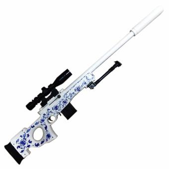 StarFire Classic Sniper Rifle No. 802 White Toy Gun with Stand,Scope and Detachable LED Light Sight For Childrens Game