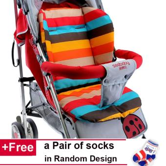 【Stroller not Included】Baby Trolley Cushion Chair Mat Thick Waterproof Urinal Pad Baby Stroller Cushion Pad Stroller Accessory -intl