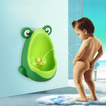 Sunshine Frog Potty Training Urinal for Boys Green