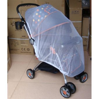 Sunweb Infants Baby Stroller Pushchair Mosquito Insect Net Safe Mesh Buggy Strollers Cover (White) - 5