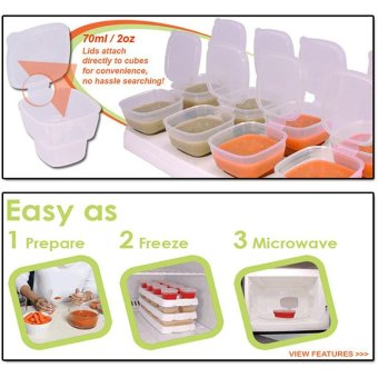Superior 8 Piece Baby Block Set Baby Food Containers Foodpreservation box safety Baby food supplement box - intl - 5