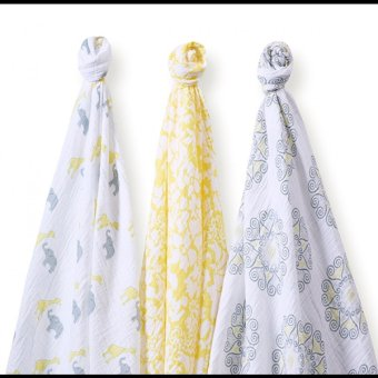 Swaddle Designs Lush Swaddle Lite Set of 3 (Yellow) - picture 2