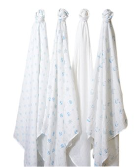 Swaddle Designs Muslin Swaddle Blankets (Set of 4) Little Ships - 2