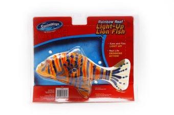 Swimways Reef Light Up Lion Fish Pool Toy (Orange/Violet)