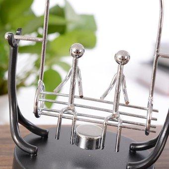 Swing Lover Perpetual Motion Electromagnetic Pendulum Desktop DecorToy Creative Gift Home Crafts - intl - 4