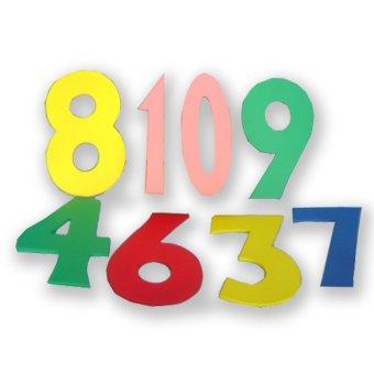 Tahanang Walang Hagdanan Cut-Out Numbers Wooden Toy (Multicolor)