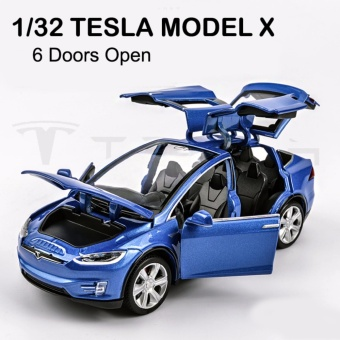 TESLA MODEL X Pull Back Toy Car 1/32 Scale Alloy Diecast CarModel,Kids Toy,Collection Toy - intl