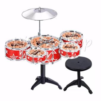 TH699-3 Jazz Drum+Chair Kids Early Education Toy Percussion Instrument Gift