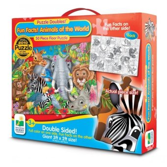 THE LEARNING JOURNEY Puzzle Doubles Fun Facts Animals of the World