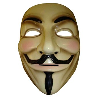 The V for Vendetta Party Cosplay masque Mask Anonymous Guy FawkesFancy Dress Adult Costume Accessory macka mascaras halloween - intl