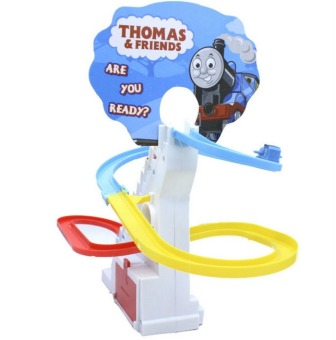 Thomas And Friends Trackmaster Climbing stairs set ,Tomas train LEDlight music Electric Rail Road kits boy assembly toys car - 3