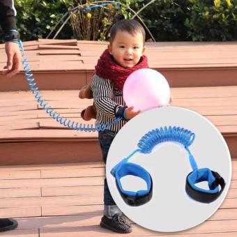 Tickle 2.5m Baby Child Anti Lost Safety Velcro Wrist Link TractionRope (Blue)