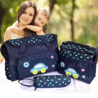 Tickle TMN- 002 4-in-1 Multi-function Baby Diaper Tote Handbag Set (Dark Blue)