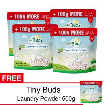 Tiny Buds Natural Baby Laundry Powder 500G Buy 4 Get 1 Free