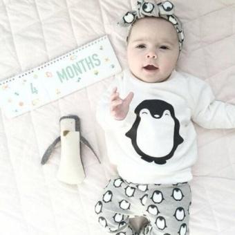 Toddler Kids Baby Boys Girls Clothes T-shirt Sweatshirt+Pants 2PCSOutfits Set 0-24M(6-12 Months) - intl - 2