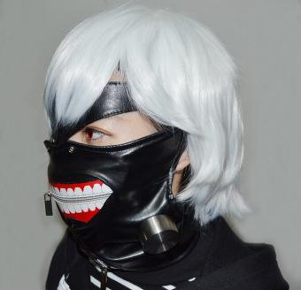 Tokyo Ghoul Kaneki Ken Cosplay Mask Halloween Prop Zipper Mask - Intl - 3