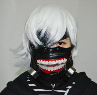 Tokyo Ghoul Kaneki Ken Cosplay Mask Halloween Prop Zipper Mask - Intl - 2