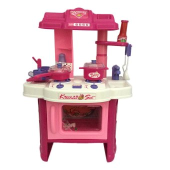 Toy collections kitchen play set pink lazada ph for Best kitchen set for 4 year old