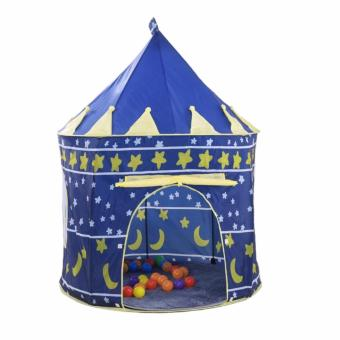 Trendsetter Portable Folding Blue Play Castle Tent Childrens Kids Castle Toy Playhouse Cubby Hut