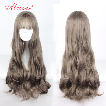 Ulzzang Japanese-style leather volume bulk of long hair big wavy