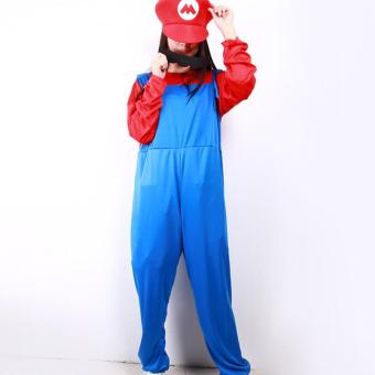 Unisex Halloween Adult Louis Mario Super Marie Clothes Cosplay Costume -Size M