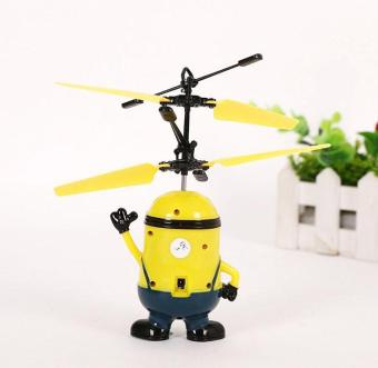 Upgrade Induction Flying Toys Despicable Me Minions Remote ControlRC Helicopter Floating Toys Kids Flying Toys Christmas Gift - intl - 4