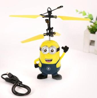 Upgrade Induction Flying Toys Despicable Me Minions Remote ControlRC Helicopter Floating Toys Kids Flying Toys Christmas Gift - intl - 2