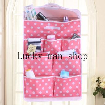 USA TOP ONE lazada and USA best selling very big size Wall DoorHanging Organizer Closets Storage Hanging Bag pink - 2