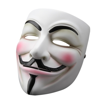Vendetta Mask Anonymous Guy Fawkes Fancy Dress Resin Adult Costume Cosplay