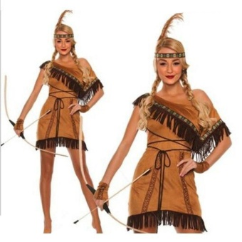 Woman Native American Indian Princess Fancy Dress Cosplay CostumeSuit S - intl Price Philippines