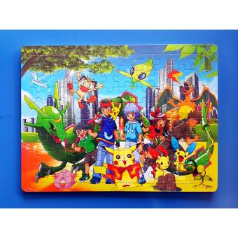 Wooden Jigsaw Puzzle Board Pokemon - Educational Toy for Kids