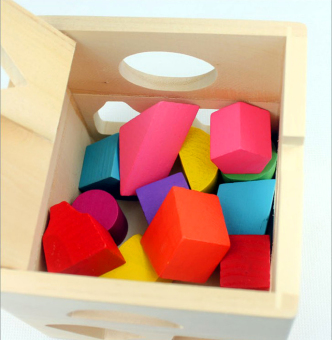 Wooden Shape Sorting Box - Educational and Therapeutic Toy for Kids - 3