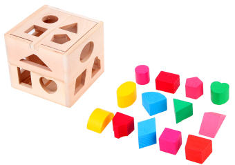 Wooden Shape Sorting Box - Educational and Therapeutic Toy for Kids - 5