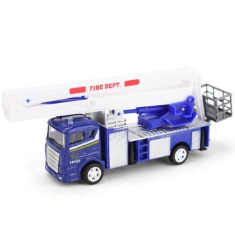 Xiongfengda Kids Alloy 1:60 Scale Simulation Fire Truck Model Toy Christmas Gift - intl