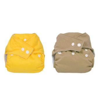YBC 2pcs Baby Adjustable Washable Reusable Cloth Diaper Nappy