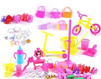 YBC 55Pcs Baby Toys Creative Barbie Dolls DIY Toy Accessory - intl - 4