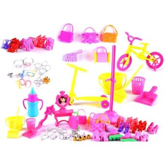 YBC 55Pcs Baby Toys Creative Barbie Dolls DIY Toy Accessory - intl - 3