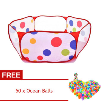 YBC Ocean Ball Play Tent Pool for Kid Swim Outdoor Fun Toy [Buy 1Get 1 Free]