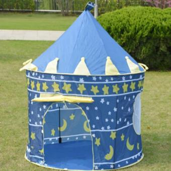 YingWei Portable Blue Pink Prince Folding Tent Kids Children KidsBoy Castle Cubby Play House Blue - intl Price Philippines