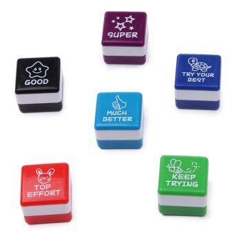 Young Mindz Teacher Collection Auto Ink Stamp Set (Multicolor)