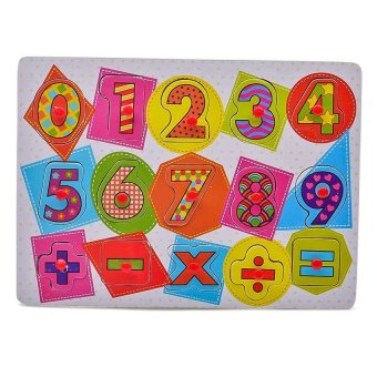 Young Mindz Wooden Alphabet and Numbers Peg Puzzle - 3