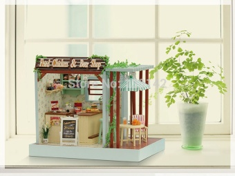 Z006 fried chicken and beer miniature dollhouse miniature diy doll house wooden store The best Christmas gift - intl - picture 2