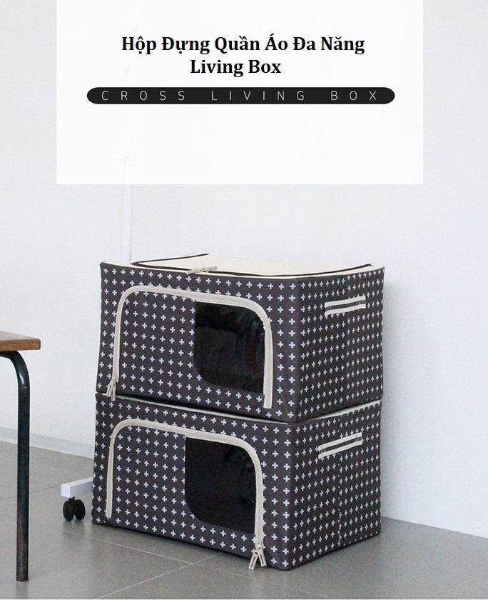 ⭐Hộp đựng quần áo khung thép gấp gọn tiện ích 66 Lít - Living box 66L: Mua  bán trực tuyến Hộp chứa đồ với giá rẻ | Lazada.vn