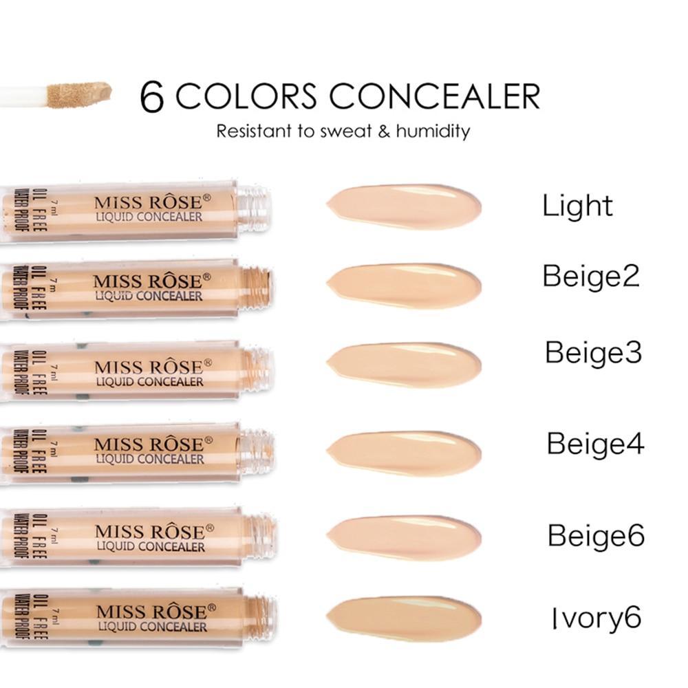 Specifications of MISS ROSE 6 Colors Face Contour Makeup Liquid Concealer Contour Pore Acne Cover Base Make Up Foundation Cosmetics Face Concealer Contour ...