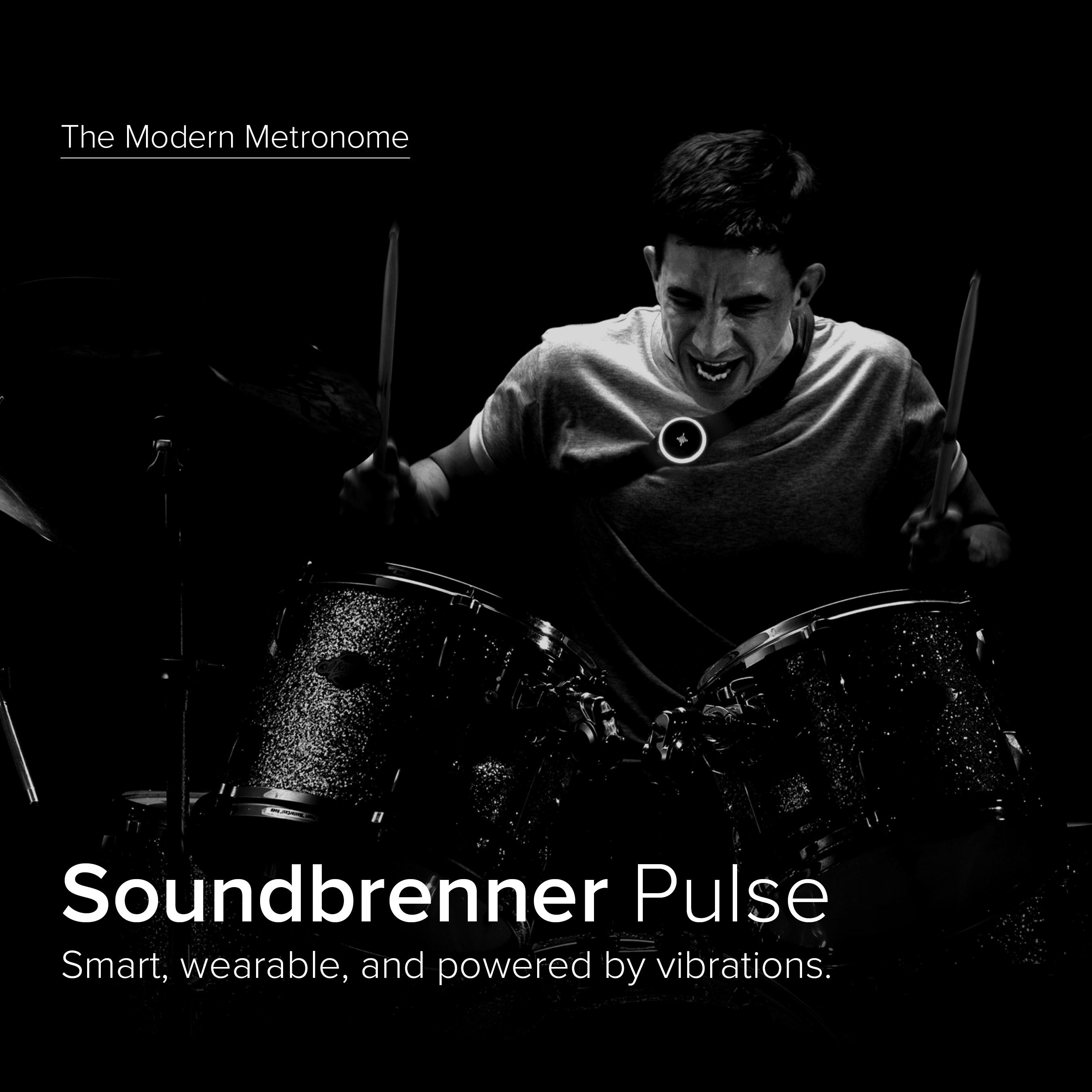 Official Soundbrenner Pulse Smart, Vibrating & Wearable Metronome For All  Instruments (Guitar, Piano, Drums) Tap Tempo (BPM) + Visual Beat Counting