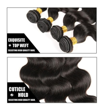 1 Bundle Body Long Curly Wave Lace Closure Human Hair Wig 10 Inch - intl - 4